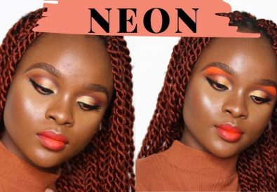 neon makeup look tutorial