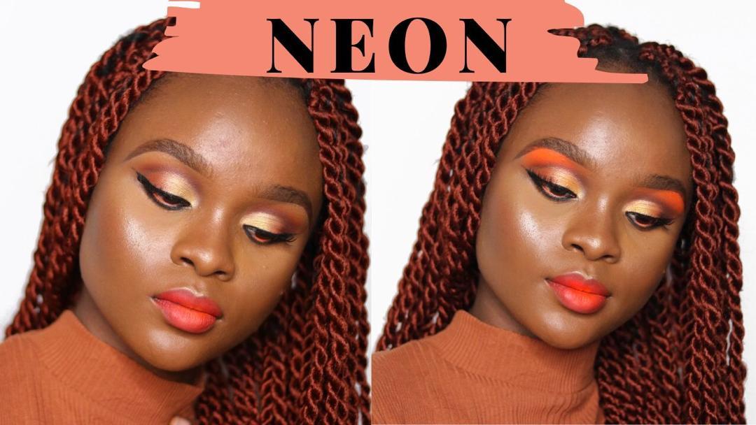 neon makeup look tutorial