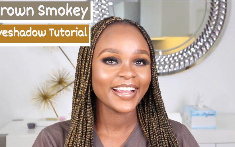 Easy Smokey Eye Makeup Tutorial On Dark Skin