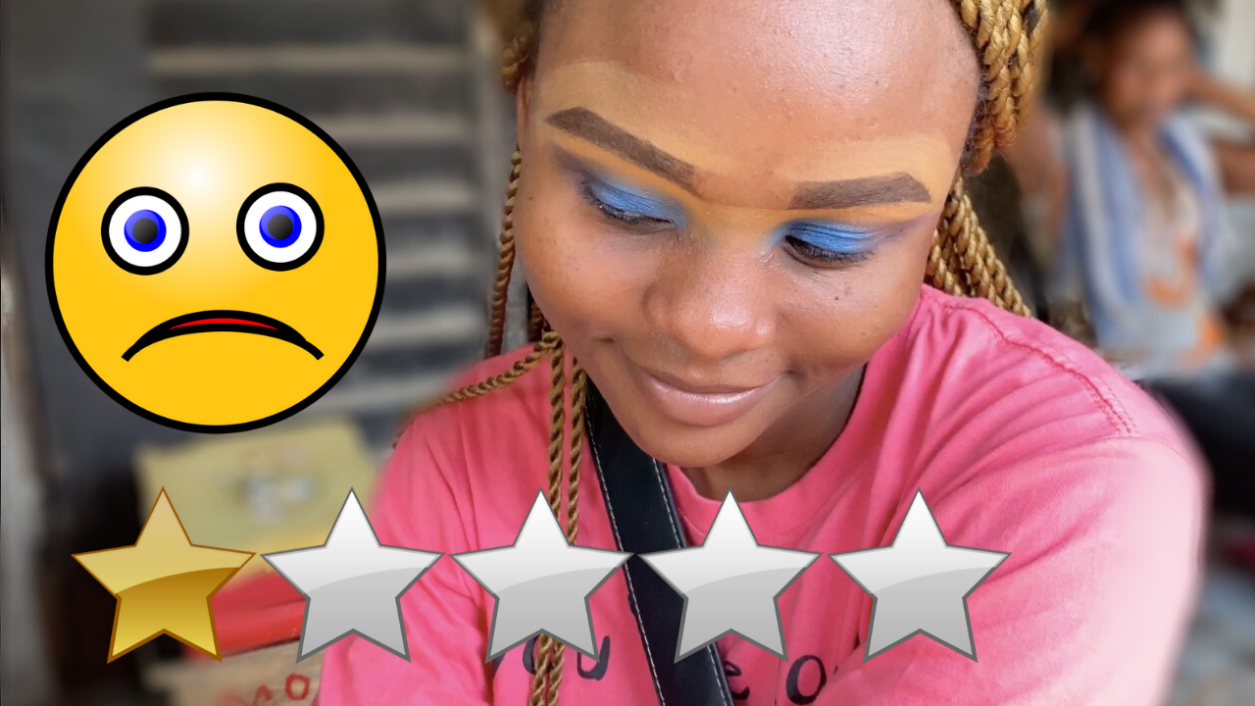 I WENT TO THE WORST REVIEWED MAKEUP ARTIST IN MY CITY, LAGOS, NIGERIA